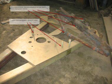 20. Ремонт переднего моста и тяговой рамы